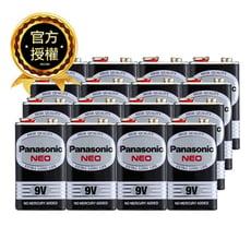 Panasonic 國際牌9V 碳鋅電池 乾電池 黑錳電池 四角電池 12/入