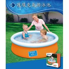 Bestway。加厚護環充氣游泳池 戲水池-顏色隨機出貨