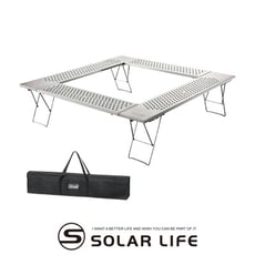 Coleman 圍爐桌/CM-0397J.輕量不鏽鋼桌 戶外烤肉桌 焚火台邊桌 燒烤摺疊桌 露營圍桌