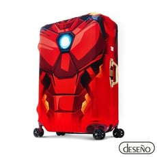 Deseno笛森諾 Marvel漫威英雄造型防刮彈性布行李箱箱套-鋼鐵人 - M