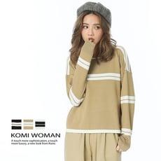 【KOMI】配色立體條紋針織上衣