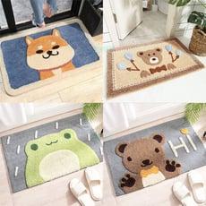 可愛動物植絨腳踏墊 地墊 地毯 吸水墊 防滑墊 臥室 浴室 柴犬 小熊