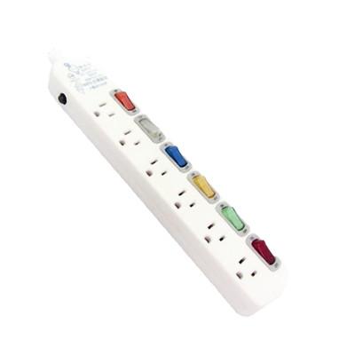 台灣製~【電精靈】 6開6插座3插孔電腦延長線 9尺(2.7米) PSK-336B