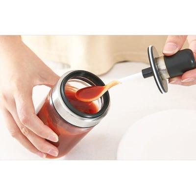 高硼硅玻璃一體式密封帶勺調味罐