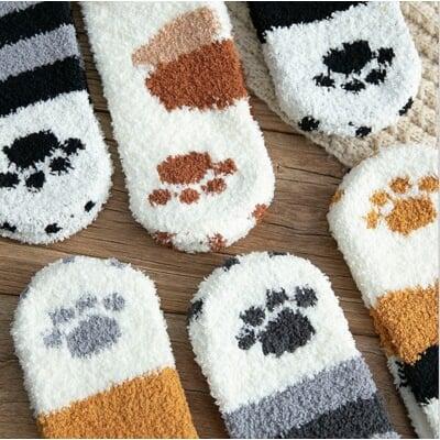 貓爪毛襪 貓爪襪 可愛貓紋襪 貓皇貓奴