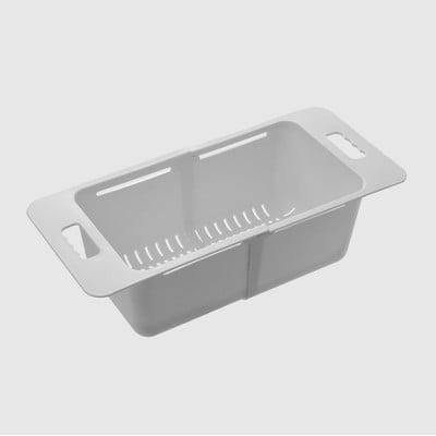 伸縮瀝水籃 【加深款】水槽碗盤瀝水架