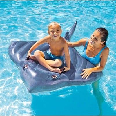 炎炎夏日 (24H出貨) INTEX 57550 魟魚座騎 魔鬼魚坐騎 戲水玩具 充氣動物坐騎 浮排