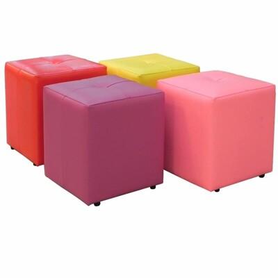MIT 在地台灣製造 (10色) 彩色小方椅 椅凳 穿鞋以 小沙發 玄關椅 墊腳椅