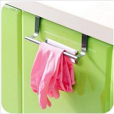 多功能不銹鋼毛巾架/ 廚房櫥櫃門背式抹布掛架毛巾桿掛桿
