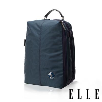 ELLE 時尚巴黎風格12吋筆電後背包- 藍色EL83840