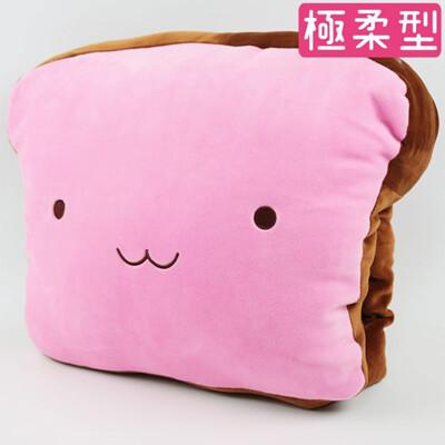 【午安枕】Nicopy 草莓吐司午安枕 暖手枕 銀狐絨暖手抱枕 百貨正品