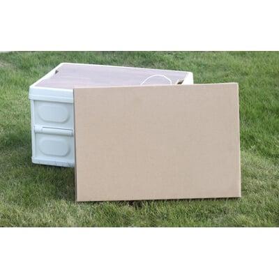 (含木板頂蓋) 折疊收納箱 露營收納箱 代替RV桶 收納折疊箱 露營置物箱 車床桌(可當折疊桌)