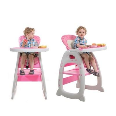 SGS認證三段式多功能兒童遊戲餐椅躺椅(三色任選)