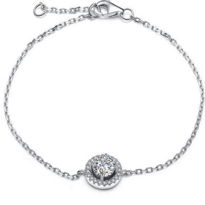 【米蘭精品】925純銀手鍊 手環-獨特精緻氣質流行女配件73z40