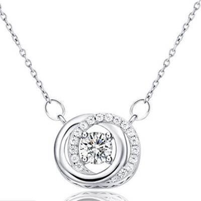 925純銀項鍊 吊墜-獨特歐式時尚精緻女配件73v47【米蘭精品】
