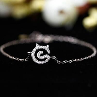 【米蘭精品】925純銀手鍊 手環-獨特時尚唯美女配件73z11