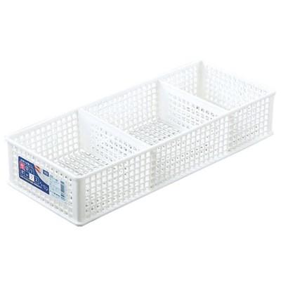 三格整理盒 淺型 日本製 可堆疊 置物盒 收納盒 雜物收納 文件收納 桌面收納 L-8486【SV8