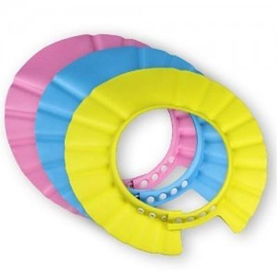 居家寶盒【SV9539】寶寶洗頭帽 嬰幼兒浴帽兒童理髮帽 4段調節大小 加大加厚檔水更佳