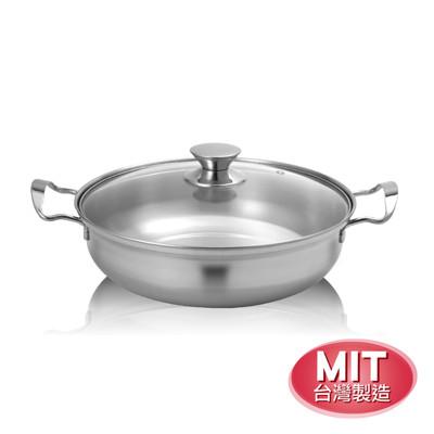 Dashiang 不鏽鋼雙耳30cm火鍋(台灣製造)