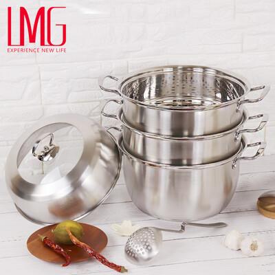 LMG304不銹鋼三層蒸鍋(附湯鍋)