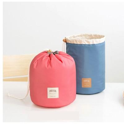 韓式束口圓筒化妝包、化妝包