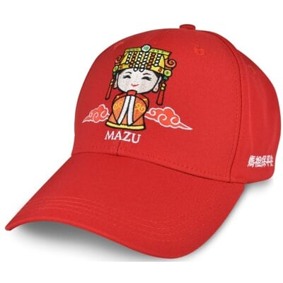 MIT刺繡台灣帽 台灣製造 媽祖 棒球帽 遮陽帽 鴨舌帽 適遶境進香 Q版媽祖帽