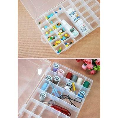 zf box 一目了然內格可自由拆分~36格diy收納盒/超大容量首飾盒/針線盒/ 醫藥箱 特價: