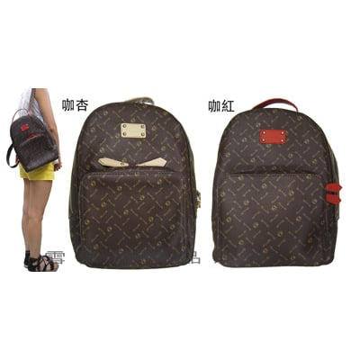 後背包中小型容量雙主袋口可8吋平板進口防水防刮皮革材質隨身物品休閒輕旅行