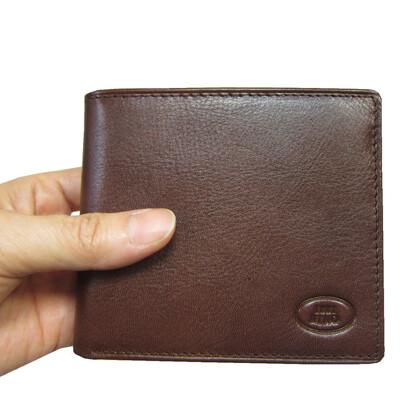 短夾男紳士短型皮夾進口專櫃100%進口牛皮材質標準尺寸固定型證夾