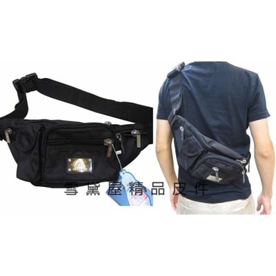 POWER-ONE屁股包腰包胸前包斜側隨身品物品包防水尼龍布材質成年青少年均適用
