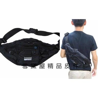 TaTi 屁股包腰包大容量胸前30kg拉力測試斜側隨身品包防水尼龍布 MP3耳機孔成年青少年均適用