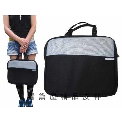 電腦套公事包小容量14吋電腦保護套可放A4資料夾U型拉鍊主袋防水布+保護墊手提