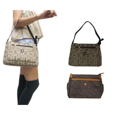 18NINO81 斜背包小容量主袋內五層+外袋共八層長背帶防水防刮皮革+防水緹花布肩斜