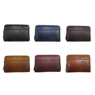 FOREVER 證件夾信用卡夾分類包零錢包中性款100%進口牛皮革U型拉鍊主袋內三層