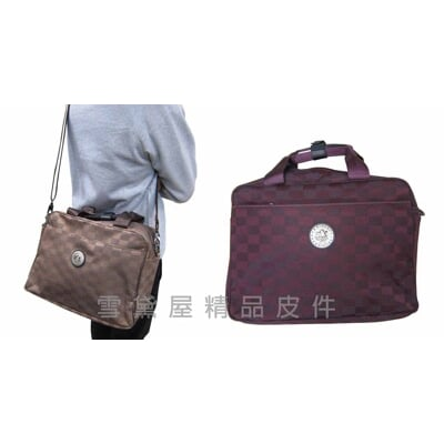 美國專櫃萬用袋小旅行袋棋盤格紋進口防水緹花布可手提肩背斜側背