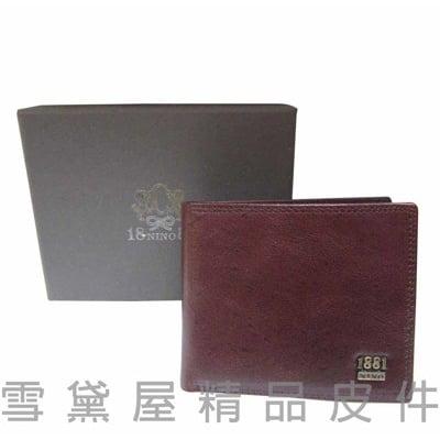 美國專櫃男用短型皮夾標準尺寸100%進口牛皮固定型證件夾附品牌禮盒