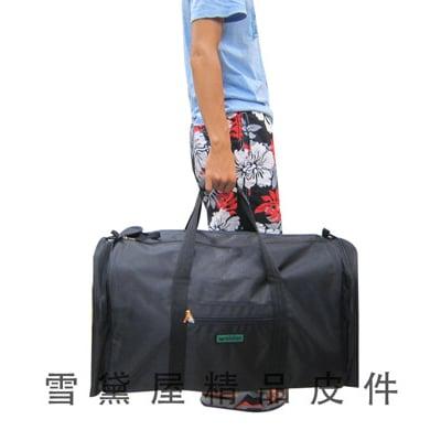 旅行袋超級大容量台灣製造二組拉鍊大開口便於取放大型品防水尼龍布由底部車縫手提肩斜側背