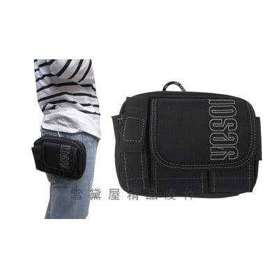 腰包中容量5.5吋手機掛相機包穿過皮帶固定台灣製造高單數彈道防水尼龍布材質附活動型長背帶