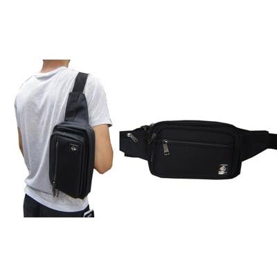 腰包大容量二主袋+外袋共五層插筆外袋腰背肩背斜側背工作工具袋隨身防水尼龍布