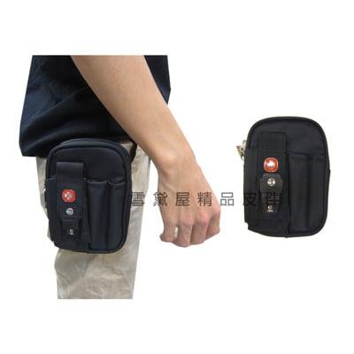 腰包5吋手機適用外插筆二層主袋外掛式腰包工具包隨身物品型男必備腰包防水尼龍布