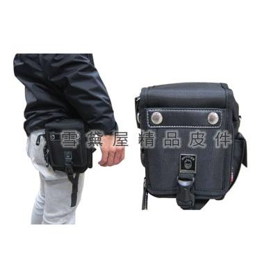 腰包中容量外掛式腰包三用功能防水尼龍布+皮革材質可外掛可腰包斜側包工具包