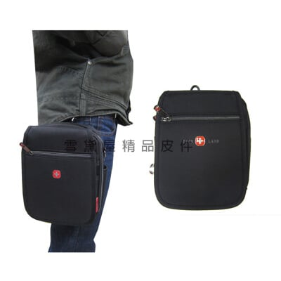 OVER-LAND 外掛式腰包超大容量可7寸手機二層主袋防水尼龍布材質隨身品包工作袋可穿過皮帶外掛