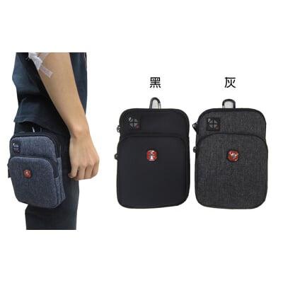 腰包6吋手機拉鍊主袋外掛式工具包隨身物品主袋+外袋共二層防水尼龍布