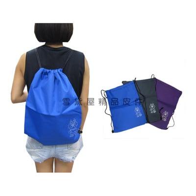 後背包束口大容量可A4資料夾簡易超輕簡單束口後背包折疊收納放口袋超輕耐重備用袋萬用袋好攜帶