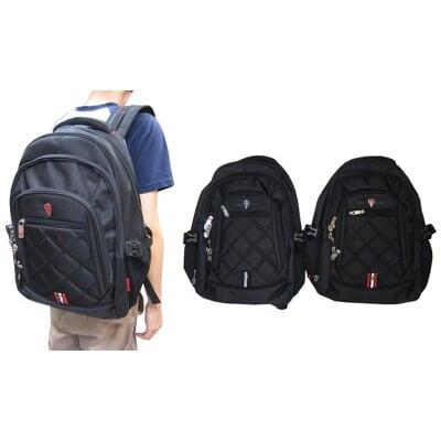 後背包大容量可加大量14吋電A4夾主袋+外袋共四層防水尼龍布口胸前釦