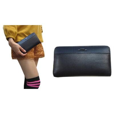 18NINO81 長夾大容量中性款100%進口軟質牛皮革U型拉鍊包覆主袋多夾層不摺鈔男女適用