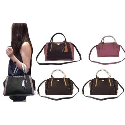 COACH 手提包中容量三層主袋國際正版保證進口防水防刮皮革品證購證塵套提袋等候10-15日
