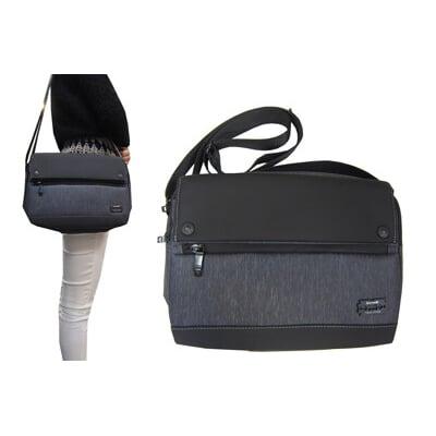 斜側包肩背包中容量隨身物品MP3耳機孔主袋+外袋共五層防水尼龍布肩背斜側背多袋口