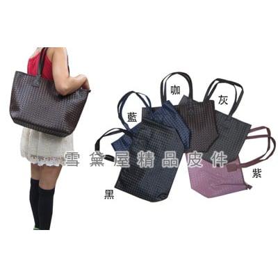 托特包中容量內二拉鍊暗袋二隔層袋口可放A4夾編織紋進口防水防刮皮革手提肩背