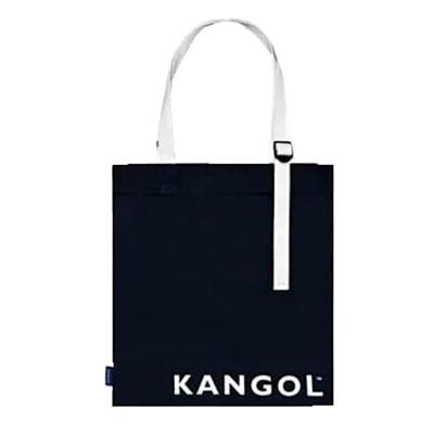 KANGOL 托特包大容量可A4資料夾進口防水尼龍布簡易扁式袋進口防水帆布磁釦型簡式主袋